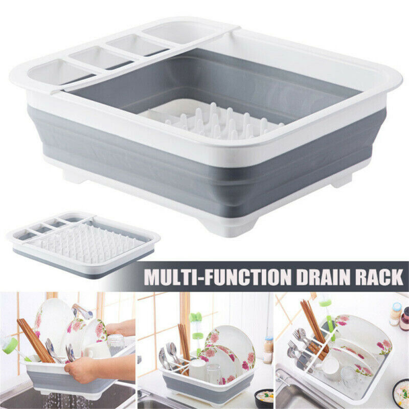 """14"""" Collapsible Drying Rack Drainer w/ Holder Kitchen"""