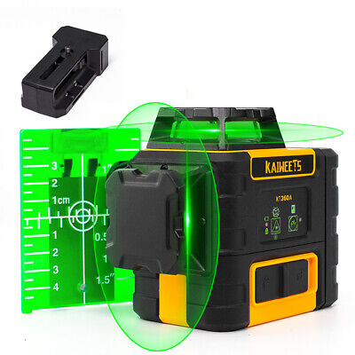 360 Green Self-leveling Cross Line Laser Levelrechargeable Lithium Battery