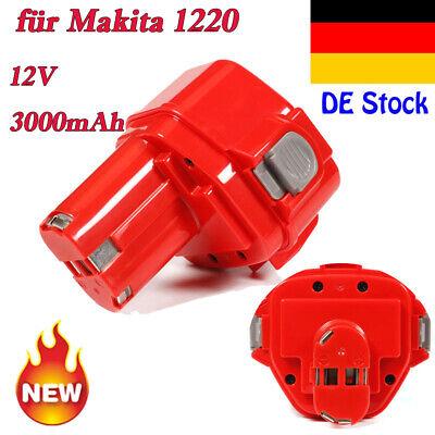 3000mAh 12V Akku für Makita 4331D 6216D 6223D 6916D ML120 UB120D UC120D Batterie
