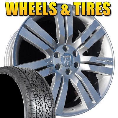 "24"" Marcellino Wheels and Tires Hyper Silver fits GMC 2007-2014 Yukon Denali"