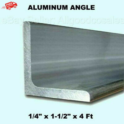 Aluminum Angle 14 X 1-12 X 4 Ft Length Unpolished Alloy 6061 90 Stock