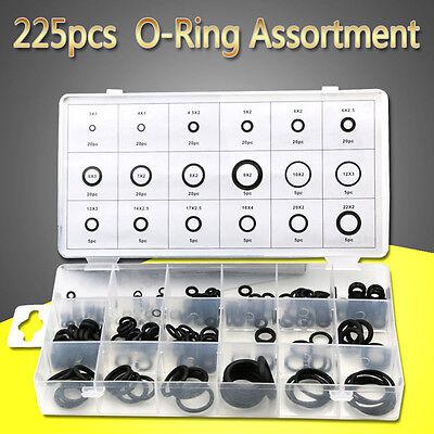 225pcs Heat Oil Resistant Nbr Nitrile Rubber O Ring Sealing Repair Kit
