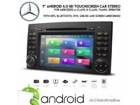 7 inch Android Bluetooth 3G WiFi GPS DVD USB SD Stereo Screen Mirror Mercedes Viano Vito Sprinter