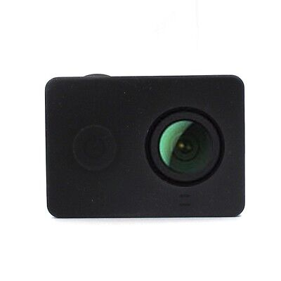 Black Action Camera Accessories Silicone Rubber Protective Case For Xiaomi yi