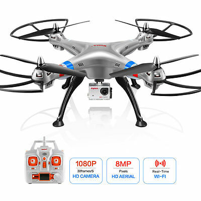 Syma X8G 6-Axis 4-CH Headless Mode RC Drone Quadcopter With 8MP 1080P HD Camera~