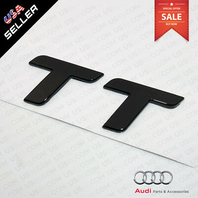 Car 3D ABS Auto Emblem Audi TT Gloss Black Logo Sticker Rear Tail Badge Trunk 12