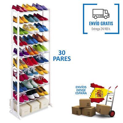 Mueble Zapatero organizador de zapatos 10 baldas hasta 30 pares We Houseware