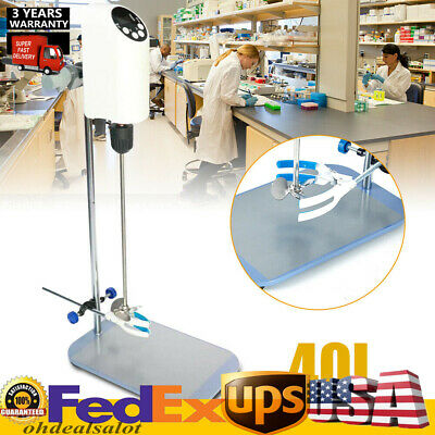 40l Lab Electric Overhead Stirrer Mixer Agitator Homogenizer Digital Display Usa