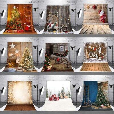 5x7FT Christmas Backdrop Snow Photo Vinyl Studio Prop Santa Claus Background NEW