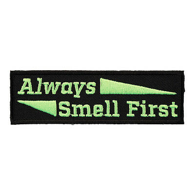 Always Smell First Lime Green Patch, Sayings Patches - Green Sayings