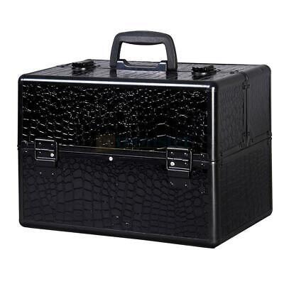 "New 14"" Pro Aluminum Makeup Train Case Jewelry Box Cosmetic"