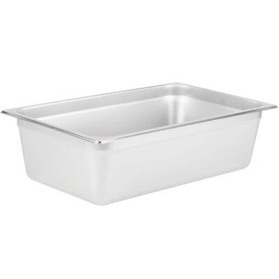 Full Size 6 Deep Silver Stainless Steel Hotel Steam Table Pan