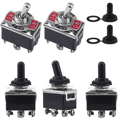 5packs 3 Position 6 Terminal Onoffon Dpdt Toggle Switch Waterproof Boot Fast