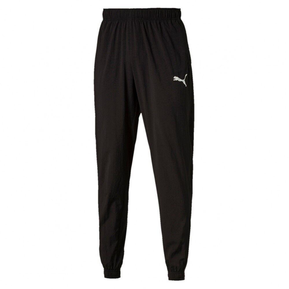 Puma ESS Woven leichte dünne Trainingshose Sporthose Jogginghose schwarz Herren