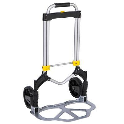 New Portable Oversized Hand Truck Folding Aluminum Dolly Luggage Cart 330lbs