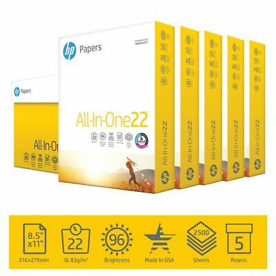 Hp Printer Paper All-in-one 22lb 8.5x 11 5 Ream Case 2500 Sheets