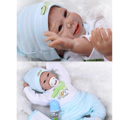NPK Reborn Baby Doll Realistic Baby Dolls 22'' Vinyl Silicone Newborn Cute Boy