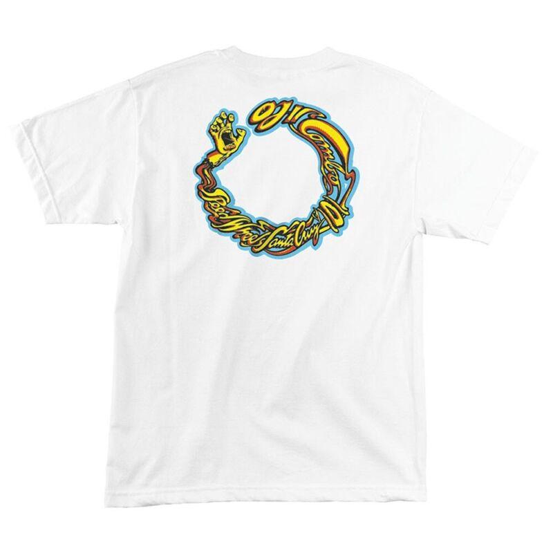 Santa Cruz OJ2 COMBO Skateboard T Shirt WHITE MEDIUM