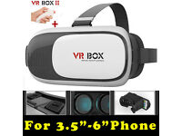 """Universal VR Headset + Bluetooth Controller - Brand New Boxed - Fits Android and iPhones 3.5"""" - 6"""""""