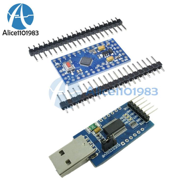 Pro Mini Atmega328 5v 16m +ft232rl Usb To Serial Adapter Module For Arduino