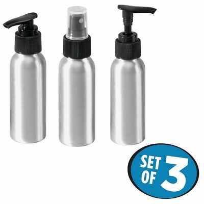 InterDesign Metro Rustproof Aluminum Spray Bottle & Soap/Lotion Dispenser Pumps
