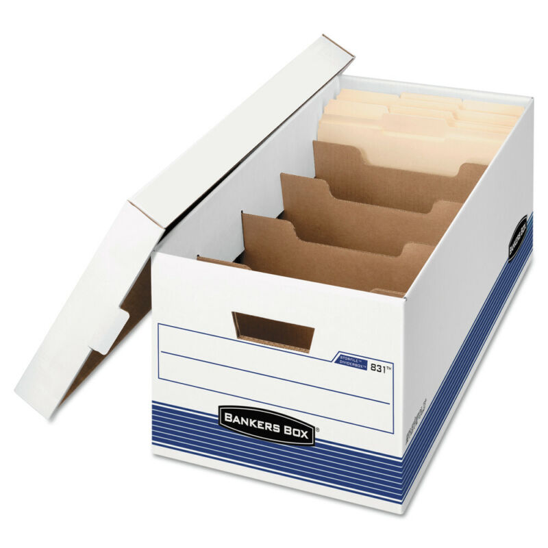 Bankers Box 0083101 Stor/File Storage Box (White/Blue) (12/Carton) New