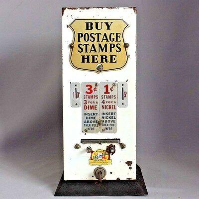 Vintage Coin Op Postage US POSTAL STAMP VENDING MACHINE 1 & 3 cent SCHERMACK
