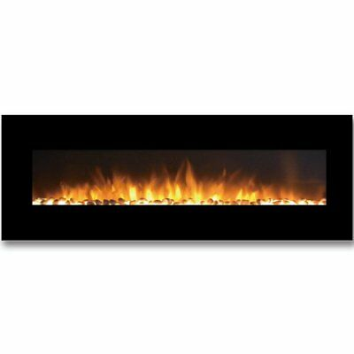 Brayden Studio Byrns Wall Mounted Electric Fireplace