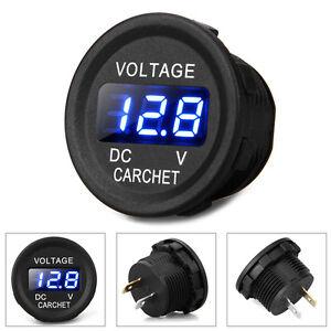 Digital Blue LED Car Yacht Volt Gauge Meter Panel Voltmeter Display DC 12V-24V