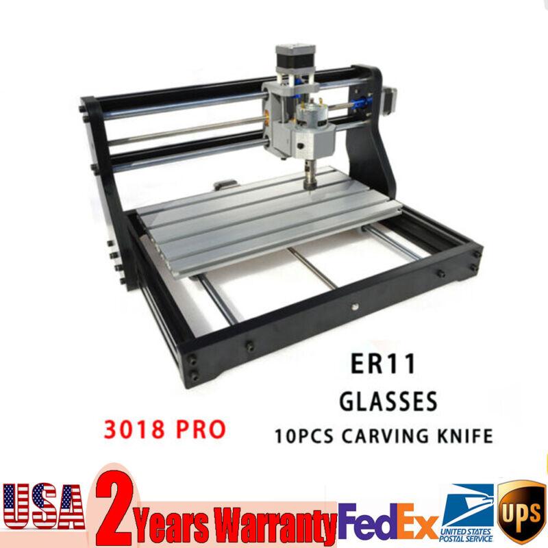 DIY CNC Laser Engraving Machine 3018 Desktop Carving Milling Cutting GRBL Contro