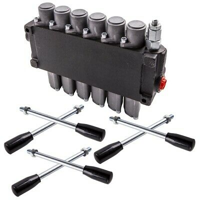 6 Spool Hydraulic Directional Control Valve Double Acting Cylinder 11gpm 40lmin