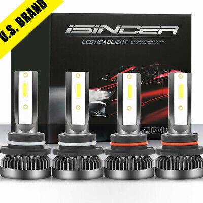 9005+9006 240W 30800LM Combo LED Headlight High/Low Beam 6000K White 4 Bulbs -