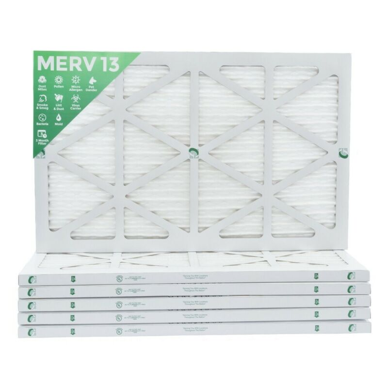 16x25x1 MERV 13 Pleated Air Filters. 12 PACK. Actual Size: 15-1/2 x 24-1/2 x 7/8