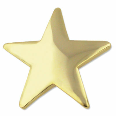 star pin gold star lapel pin  3/4