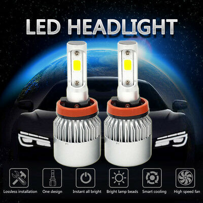 (H11 LED Headlight 6000K White 1500W 225000LM Conversion Kit Low Beam Super Power)