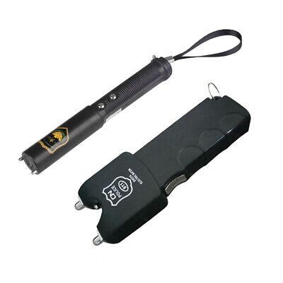 Flashlights For Kids (2pcs Shock Batons Electric Plastic Anti-stress Gadget Flashlight Stick for)