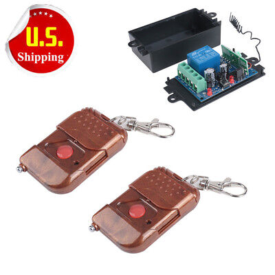 2PCS DC 12v 10A relay 1CH wireless RF Remote Control Switch Transmitter Receiver