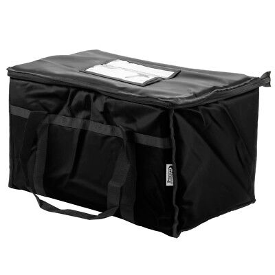 Black Insulated Food Pan Carriers (Insulated Food Delivery Bag / Pan Carrier, Black Nylon, 23'' x 13'' x 15'')