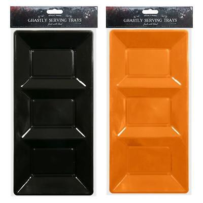 alloween Serving Trays - Party Snack Table Orange Black (Halloween Party Snack)