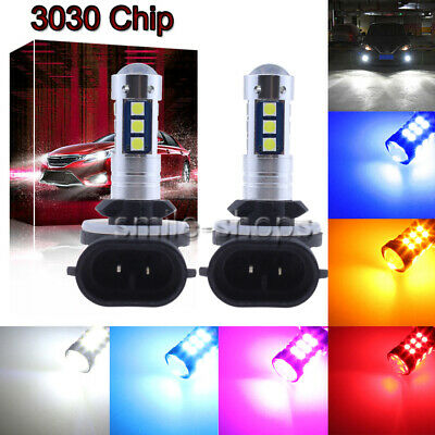 NEW 2Pcs 3030 30SMD LED Bulbs Conversion Kit Fog Lights 9005 9006 H7 H11