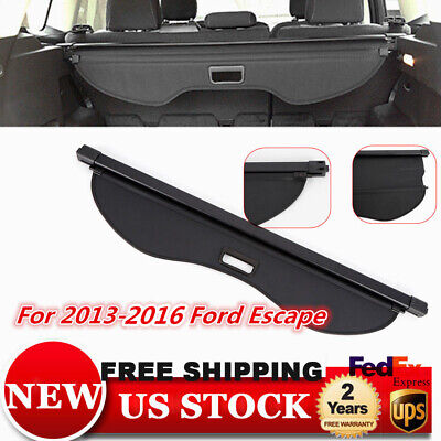 For Ford Escape 2013-2016 Trunk Cargo Cover Security Trunk Shade Shield Black