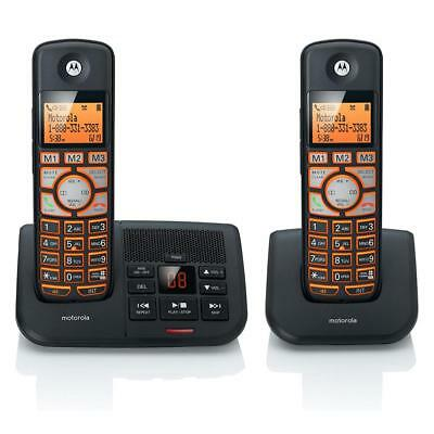 Motorola K702B DECT6.0 2-Handset Digital Cordless Phone with Answering