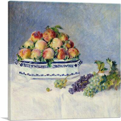 Pierre Auguste Renoir Still Life (Still Life with Peaches and Grapes 1881 Canvas Art Print Pierre-Auguste Renoir)