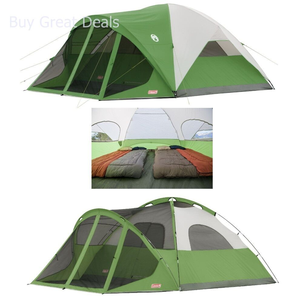Coleman Evanston 6 Screened Tent with Waterproof Floors and Leak-Free Seams -NEW  sc 1 st  eBay : coleman evanston 6 screened tent - afamca.org