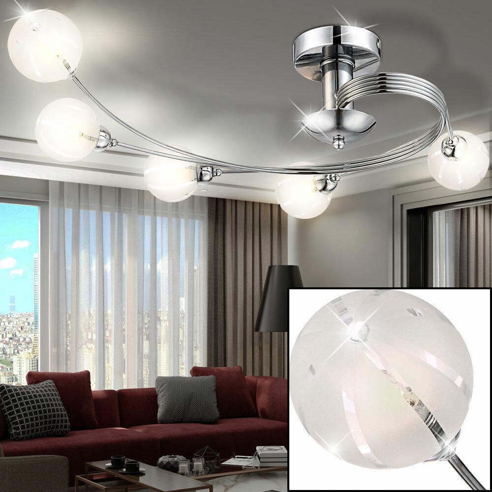 Decken Lampe Kugel-Spot Strahler Küchen Leuchte Wohn-Schlaf-Zimmer Beleuchtung