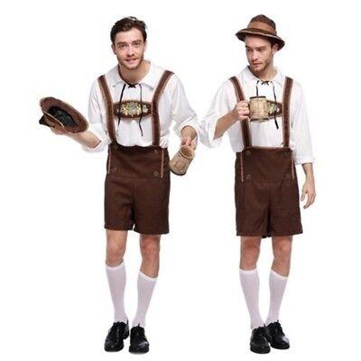 Bavarian Guy Oktoberfest Lederhosen German Beer Men Costumes Outfits Christmas…… ()