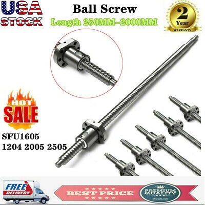 Ball Screw SFU1204 SFU1605/2005/2505 250-2000MM with nut US