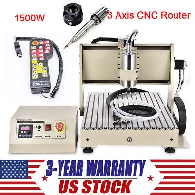 3 Axis Cnc Router Engraver 1500w Usb 3d Engraving Machine Handwheel Controller