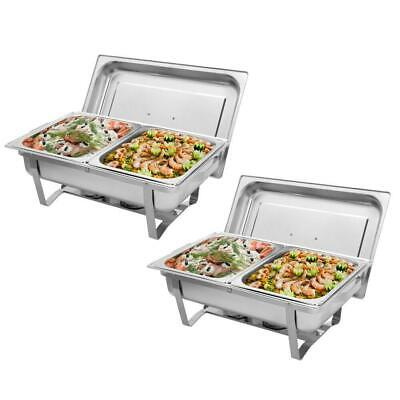 2pack Catering Stainless Steel Chafer Chafing Dish Sets 9l8qt 2020