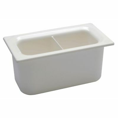 Carlisle Coldmaster 4 25 Qt White Abs Plastic Divided Food Pan - 13 Size 6d